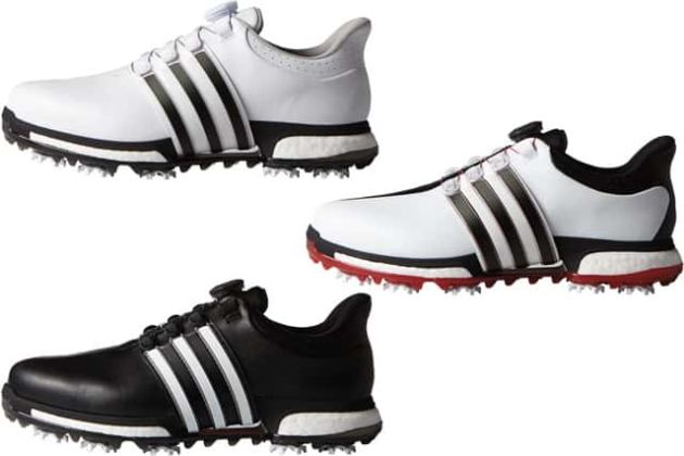 adidas Golf     The TOUR360 BOA BOOST golf shoe with the dial on the     adidas Golf TOUR360 BOA BOOST 2