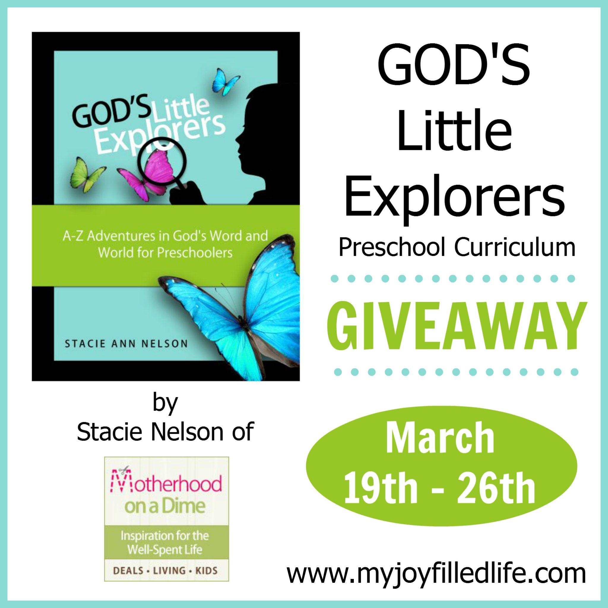 God's Little Explorers Preschool Curriculum {Blog Birthday ...