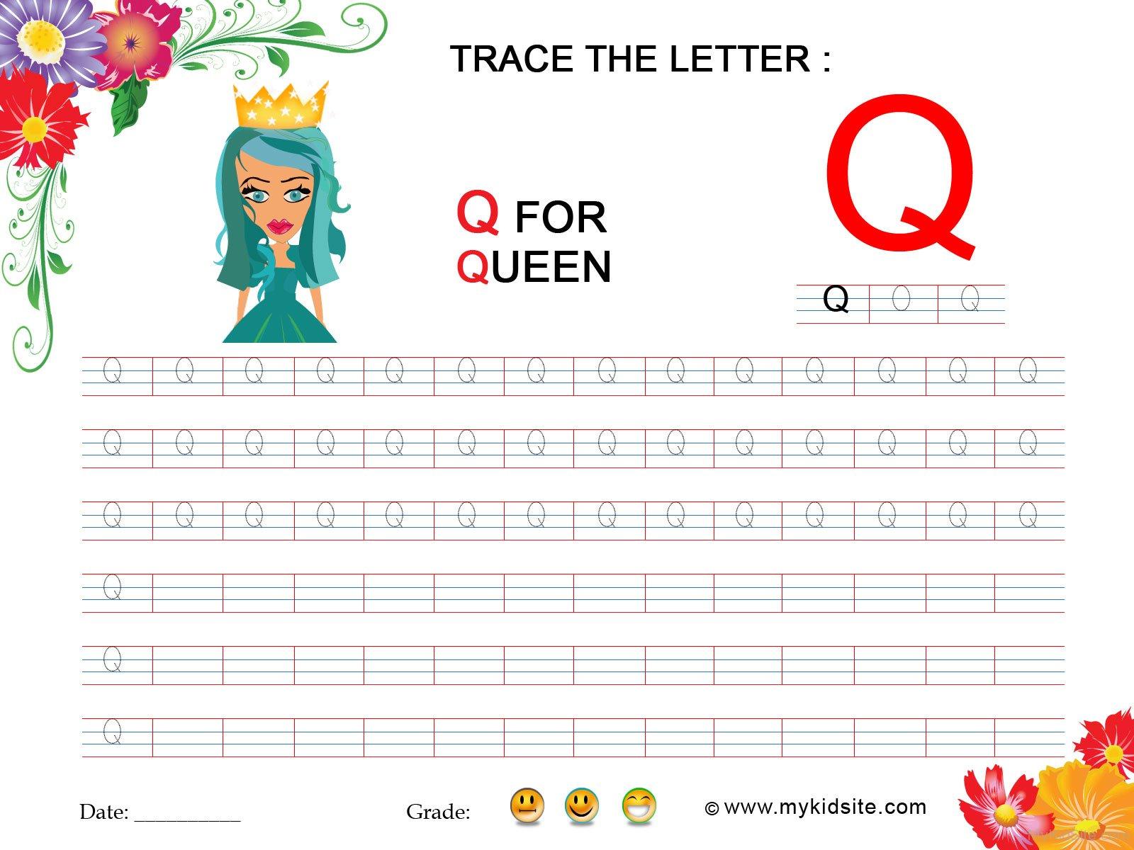 W Ksheet Letter Q