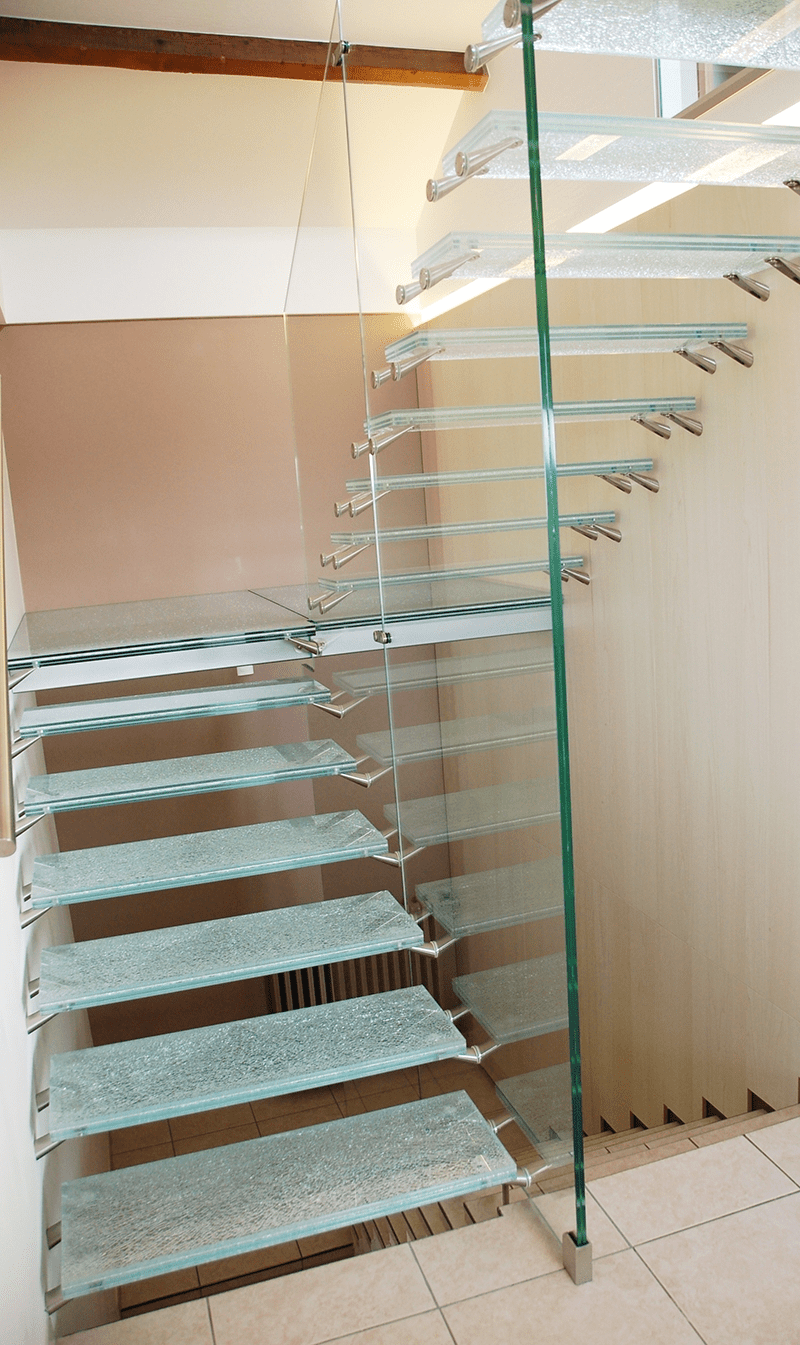 Glass For Staircase Glass Staircase Design   Spiral Staircase With Glass Railing   Metal   Residential   In India Staircase   Contemporary Glass   Thin Glass