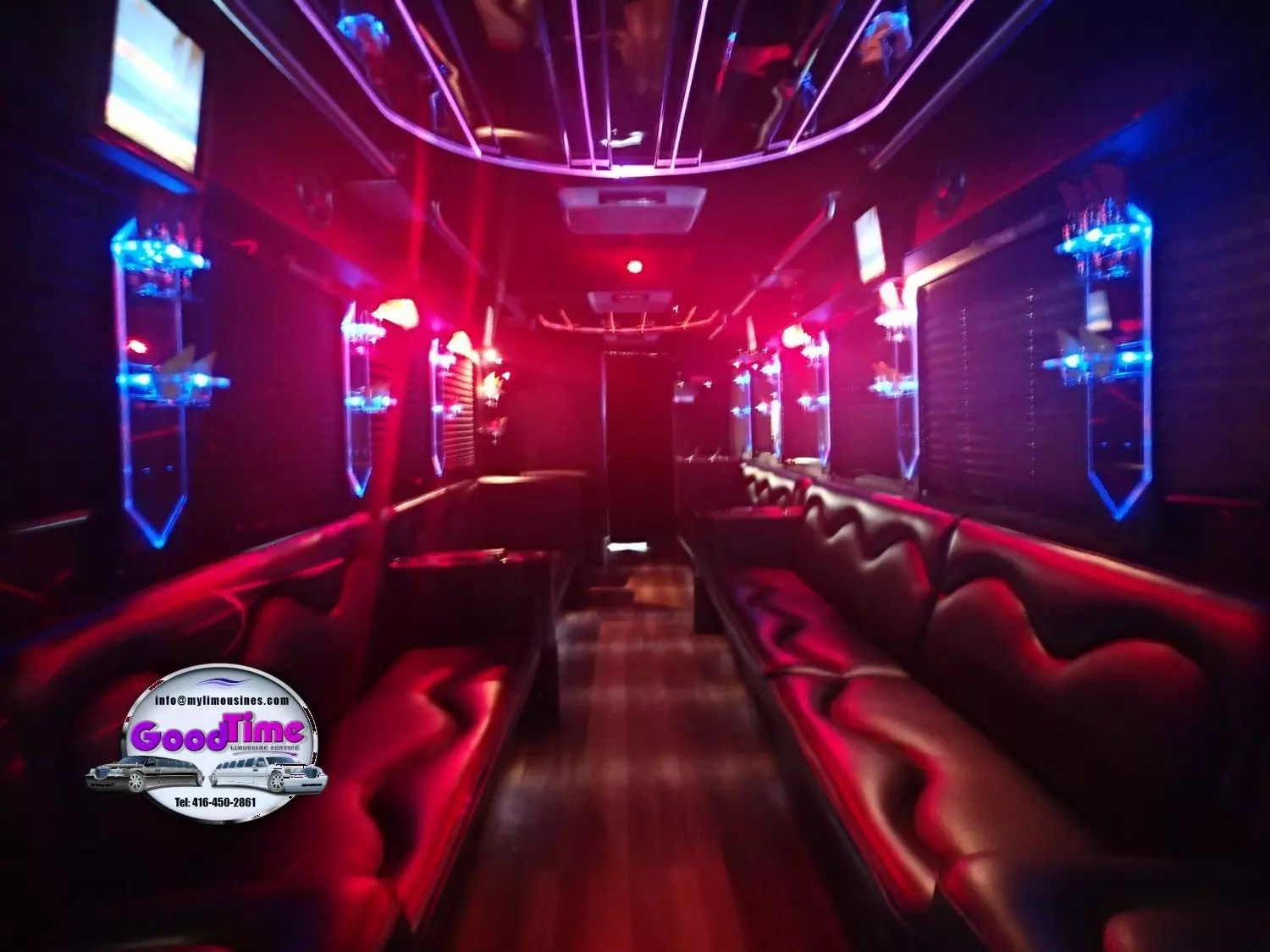 32 passenger party bus interior 6 1 LIMO RENTAL FLEET