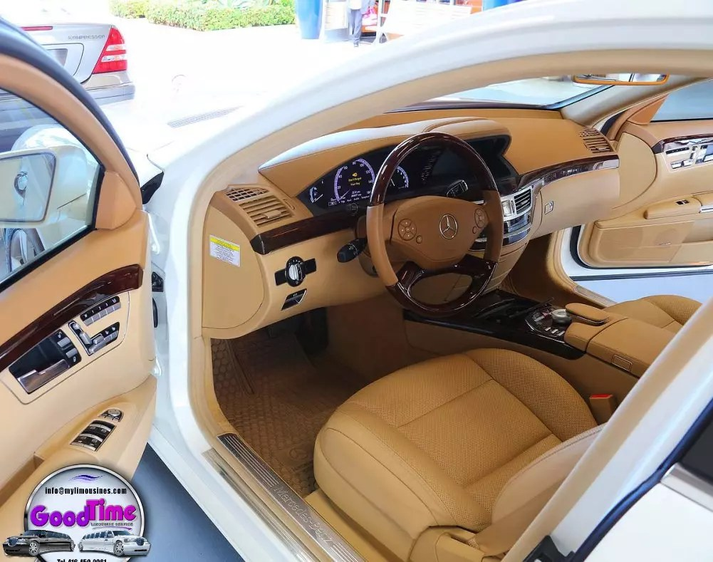 Mercedes Benz S550 Sedan Limo Interior 1 1 LIMO RENTAL FLEET