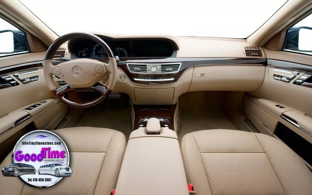 Mercedes Benz S550 Sedan Limo Interior 2 1 LIMO RENTAL FLEET