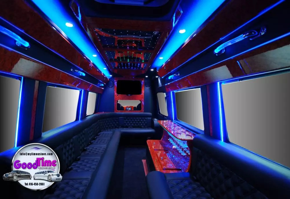 Mercedes Benz Sprinter Limo Interior 1 1 LIMO RENTAL FLEET
