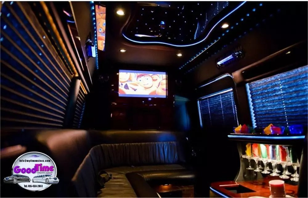 Mercedes Benz Sprinter Limo Interior 2 1 LIMO RENTAL FLEET