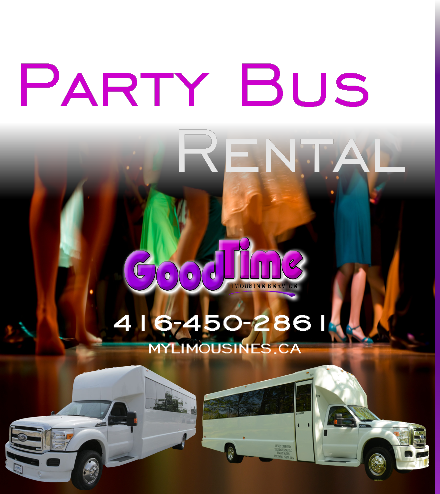 Party Bus Rental Services AURORA PARTY BUS