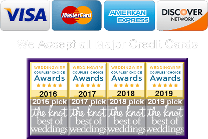 We Accept All Credit Cards AJAX WEDDING LIMO