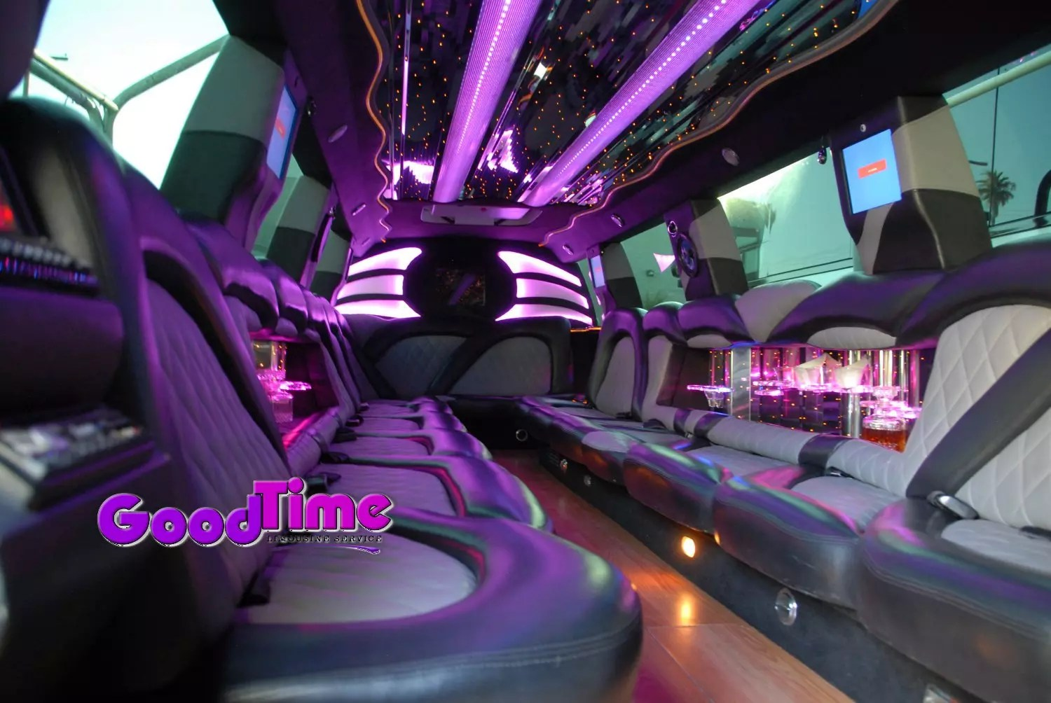 cadillac escalade suv stretch limo 22 passenger interior 2 2 LIMO RENTAL FLEET