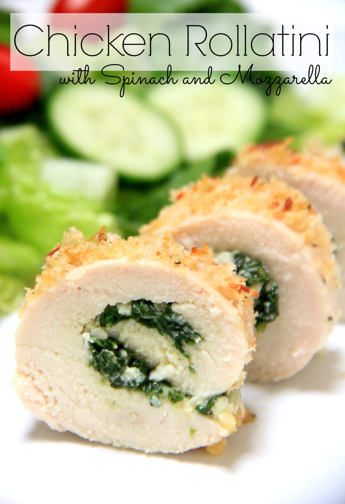 Roll up that boring chicken breast with spinach and mozzarella cheese to make this chicken rollatini masterpiece. High in protein and easy to make Keto friendly! via @mymommystyle