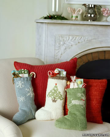 stockings on the couch