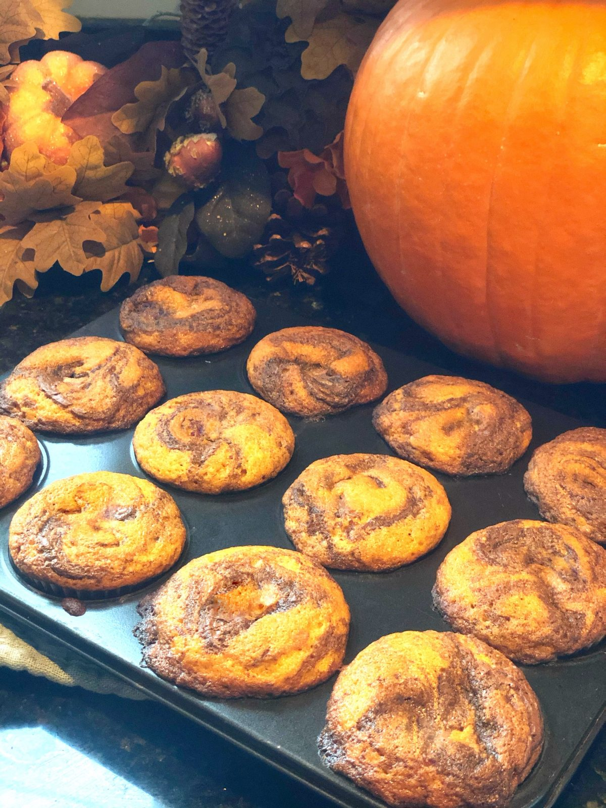 Easy Pumpkin Muffins with Nutella