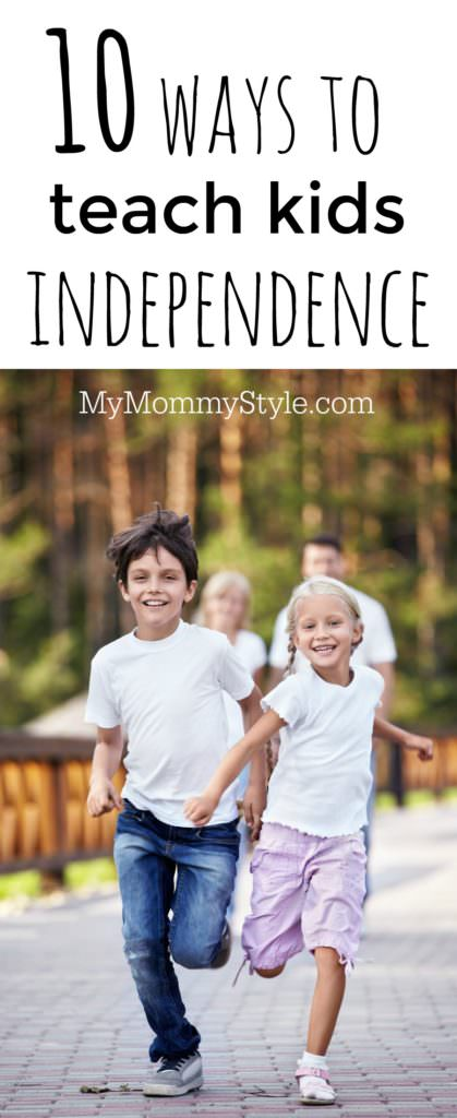 Great ideas to teach your children how to be independent at an early age so they are prepared for life on their own later.