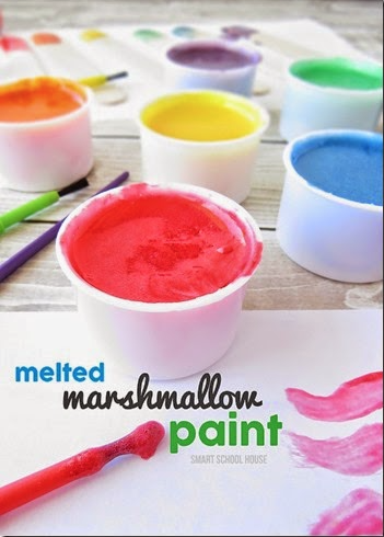 melted marshmallow paint