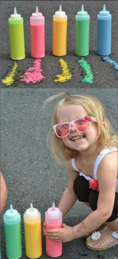 Magic sidewalk chalk paint