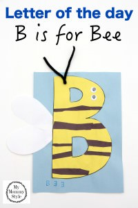 Letter of the day b is for bee