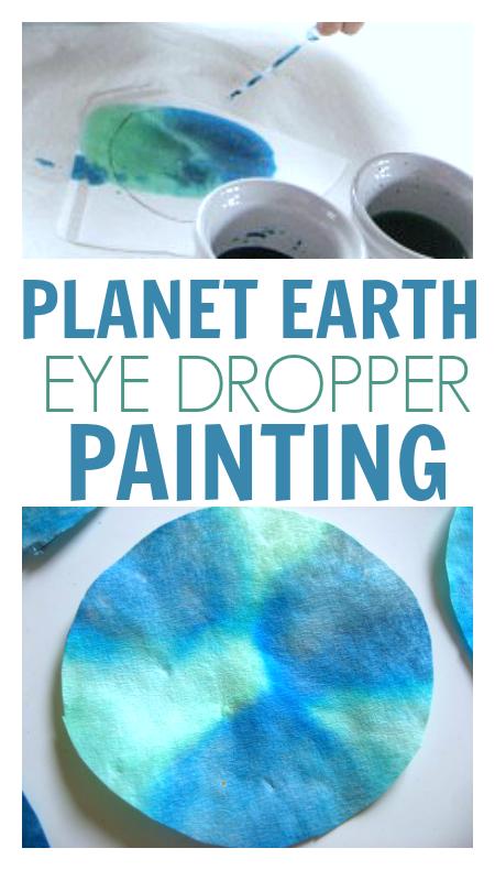 planet earth eye dropper painting