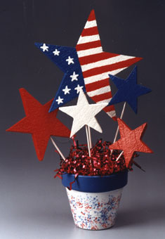 patriotic starburst centerpiece