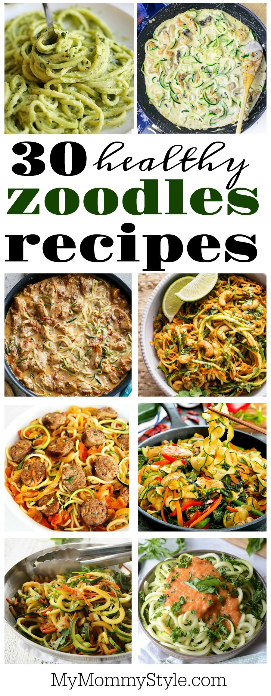 How to cook zoodles – 30 awesome recipes via @mymommystyle
