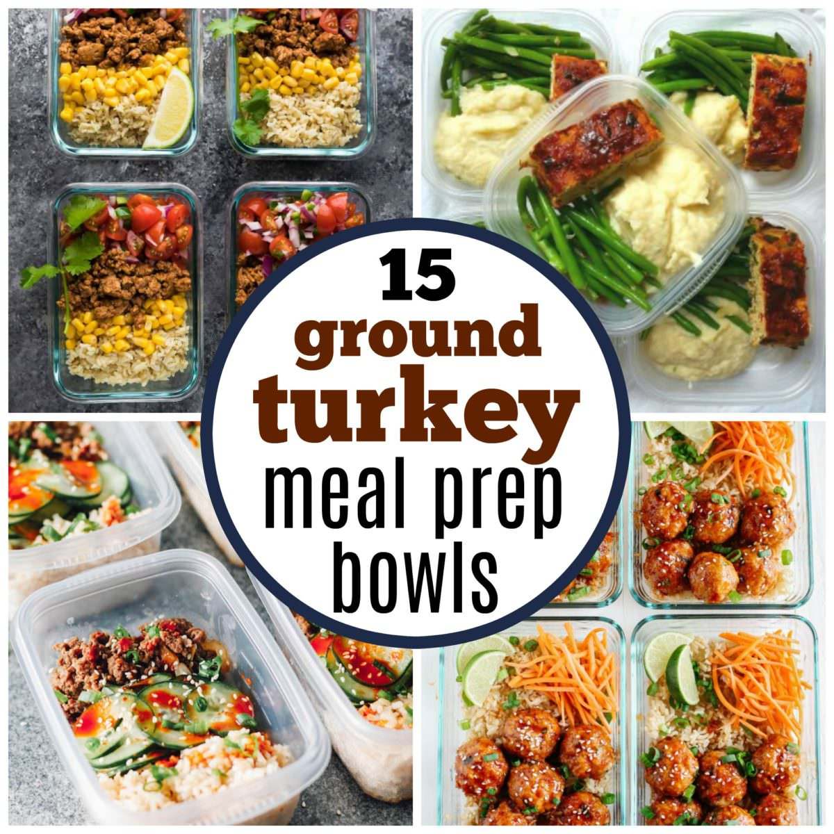 ground turkey meal prep bowls