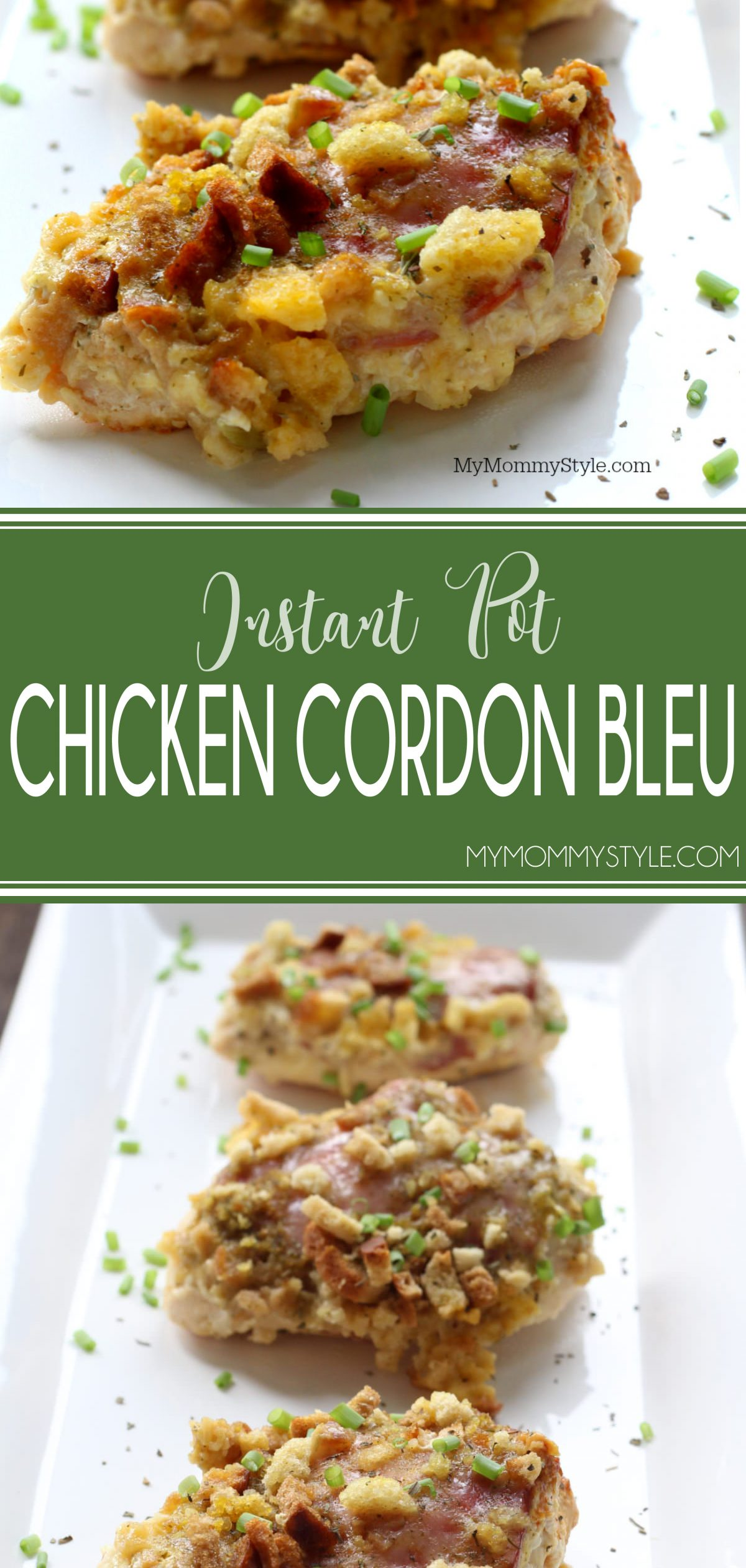 This Instant Pot Chicken Cordon Bleu marries the same traditional flavors of Cordon Blue, but takes out the hassle of pounding the meal, rolling up the layers, and cuts out tons of time. via @mymommystyle