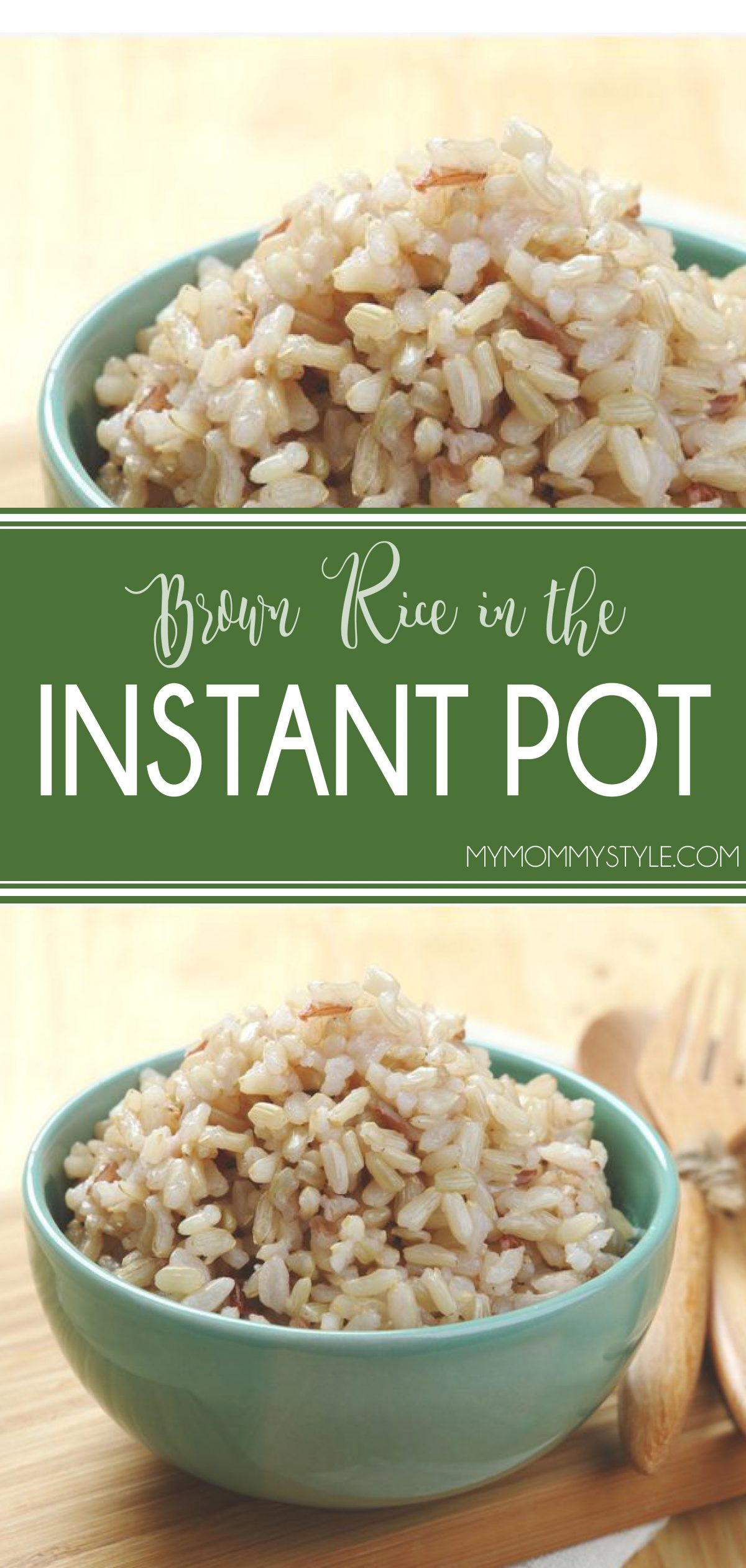 This Instant Pot brown rice recipe is so easy to make! It's much faster in the Instant Pot and the rice turns out perfectly cooked every time. No mushy rice here! via @mymommystyle