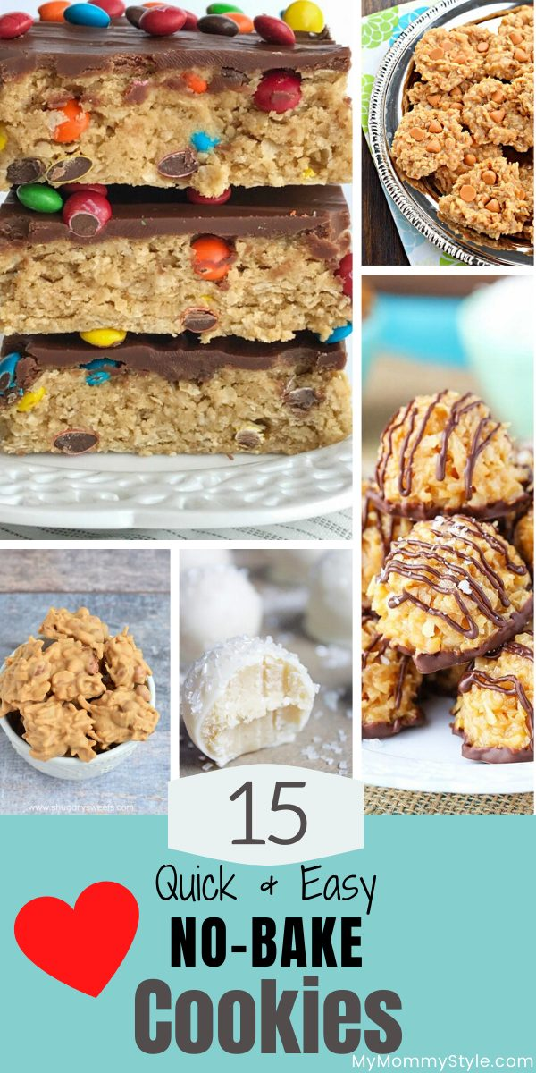 15 quick and easy no bake cookies via @mymommystyle