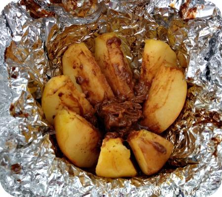 Inside out caramel apples - campfire treats