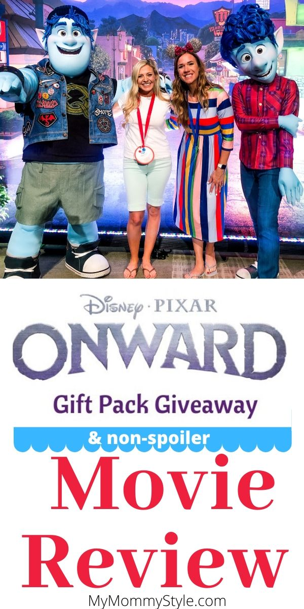 A spoiler free review on Disney's Pixar Onward movie! Onward is a heart warming Disney movie about family relatioships and an epic adventure. This Onward movie review also has a giveaway! #PixarOnward #Onward via @mymommystyle