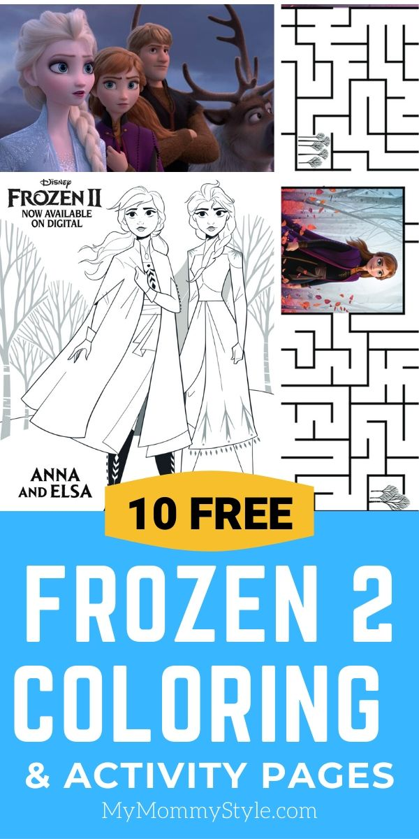 Enjoy the magic of Frozen 2 with these free Frozen activity pages! You can make your own bookmarks, coloring pages, or a maze.  via @mymommystyle