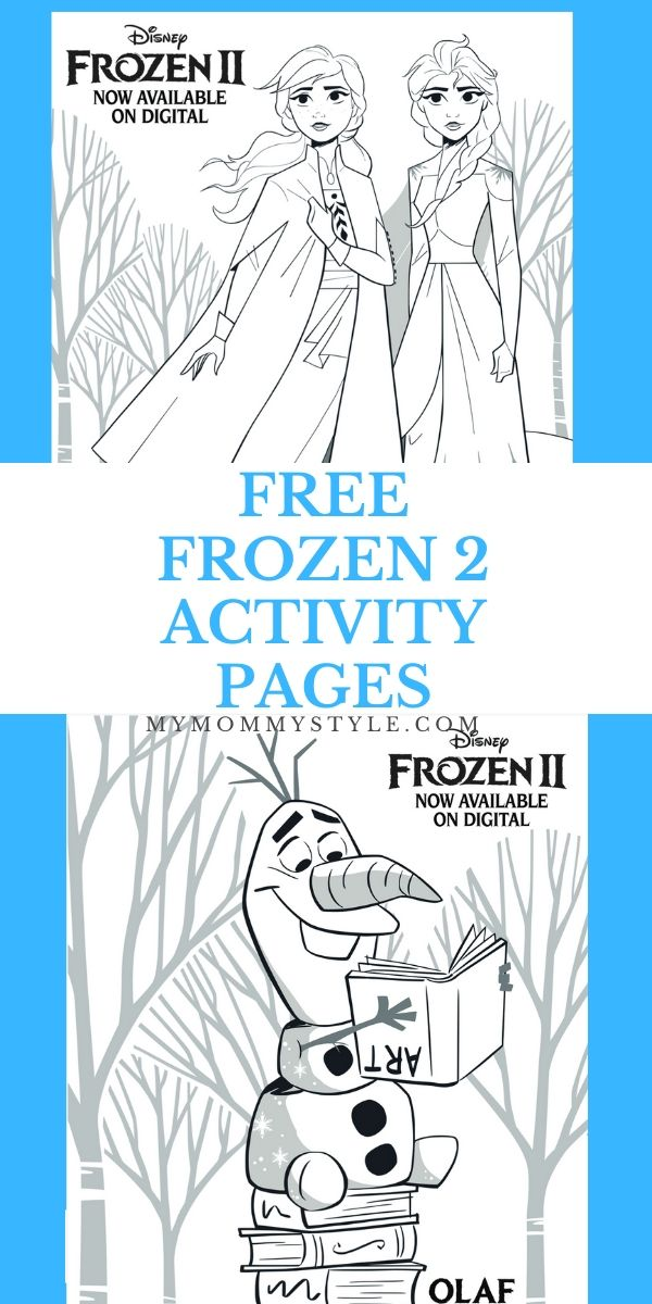 Enjoy the magic of Frozen 2 with these free Frozen activity pages! You can make your own bookmarks, coloring pages, or a maze. #Frozen2 via @mymommystyle