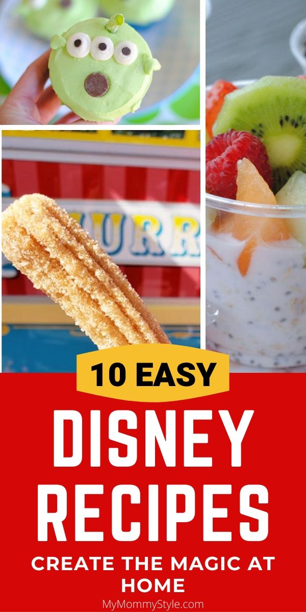 Bring the magic home with these 10 EASY Disney recipes! Make churros, dole whip, churro toffee and more! #DisneyRecipes #Disneyrecipe via @mymommystyle