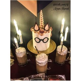 Unicorn Harry Potter Party Cake Front