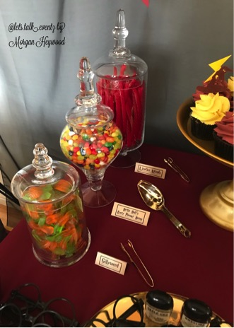 Apothecary Jars of candy