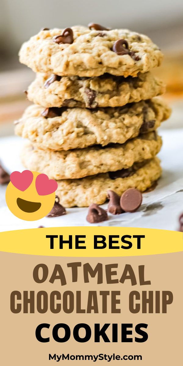 The BEST Oatmeal Chocolate Chip Cookies are soft, chewy and loaded with oatmeal and chocolate chips. Adapt them as you wish and enjoy! #bestoatmealchocolatechipcookies #oatmealchocolatechipcookiesrecipe via @mymommystyle
