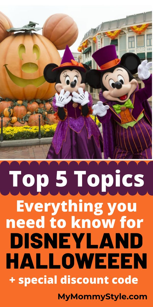 Plan your next  Disneyland Halloween vacation. In this tell all trip planner I've listed my top 5 topics with all you need to know. #disneylandhalloween via @mymommystyle