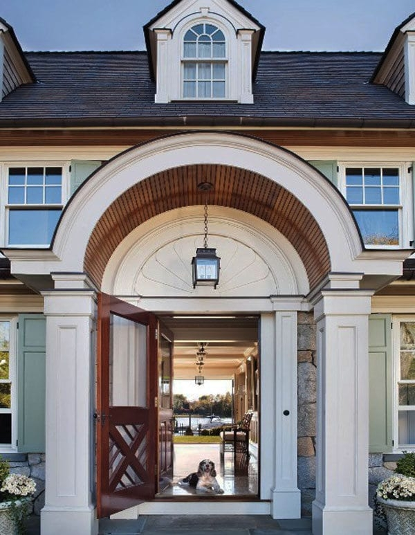 30 Inspiring Front Door Designs Hinting Towards A Happy Home | Home Front Stairs Design | Outside Stair | Double Floor | Building | Balcony | Beautiful