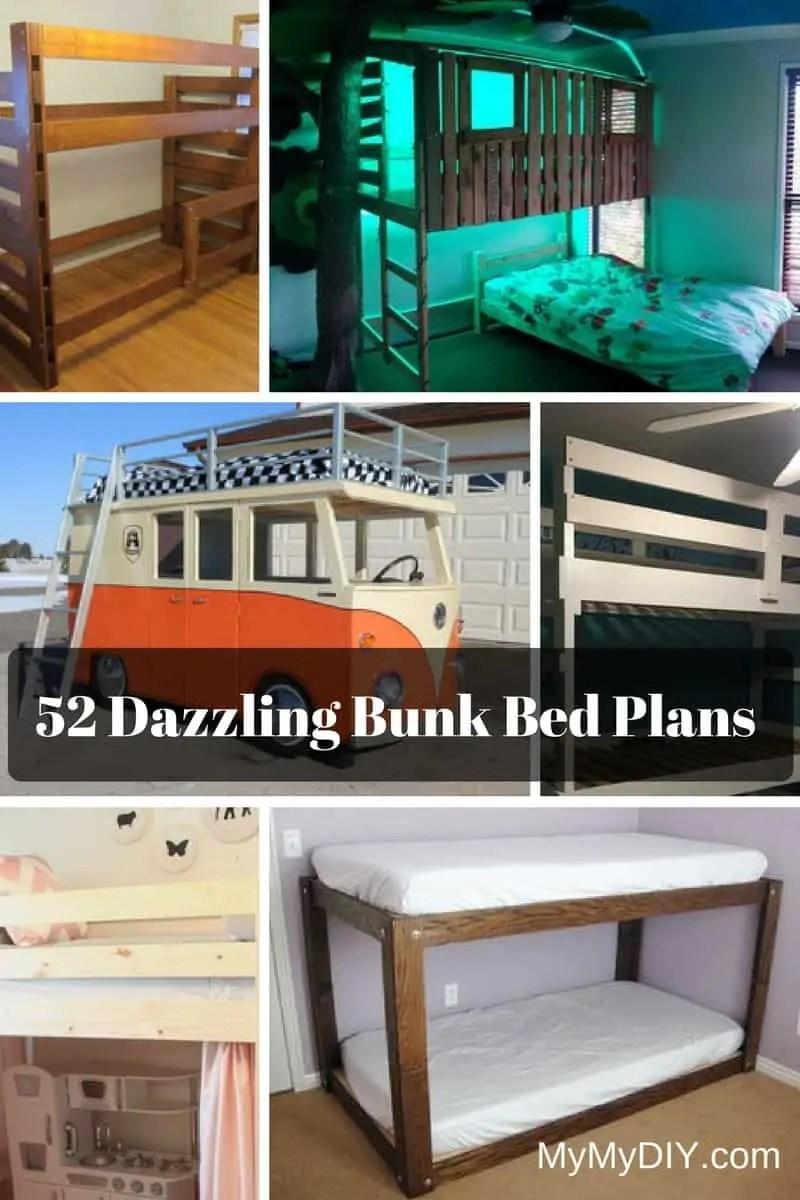 52 Awesome Diy Bunk Bed Plans Mymydiy Inspiring Diy
