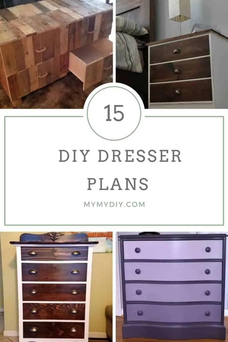 15 Sturdy Diy Dresser Plans List Mymydiy Inspiring