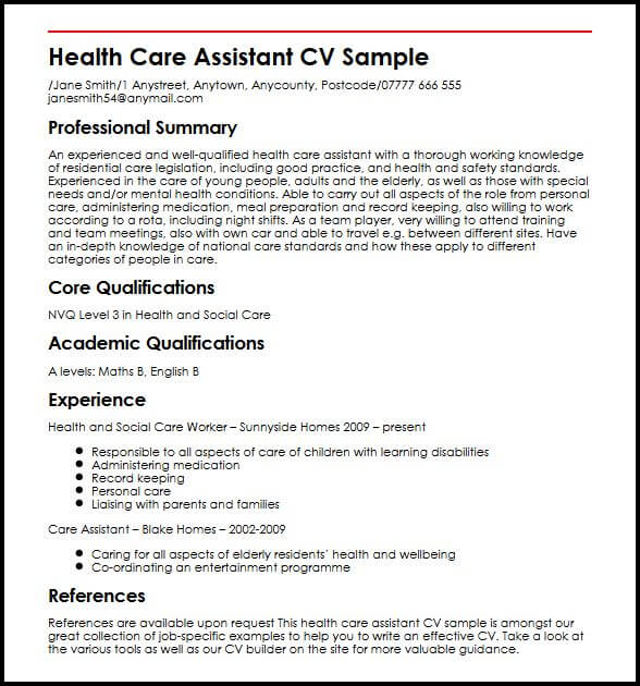 Personal Statement Examples Support Worker How To Write