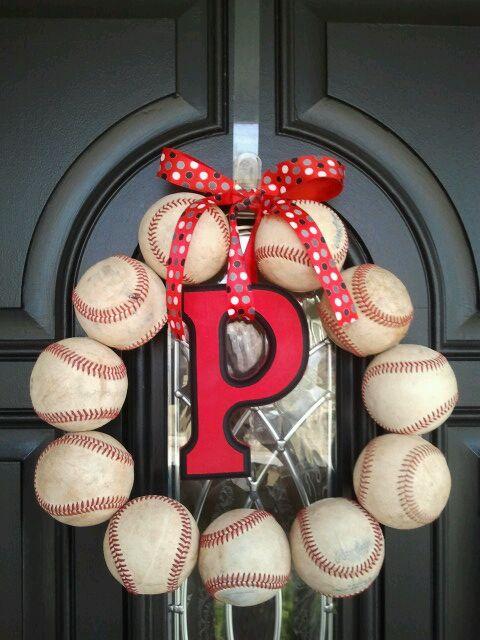 Repurposed Baseball Wreath My Repurposed Life
