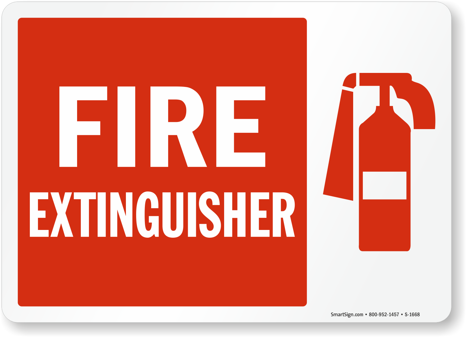 Fire Extinguisher Graphic Sign | Free PDF, SKU: S-1668 ...
