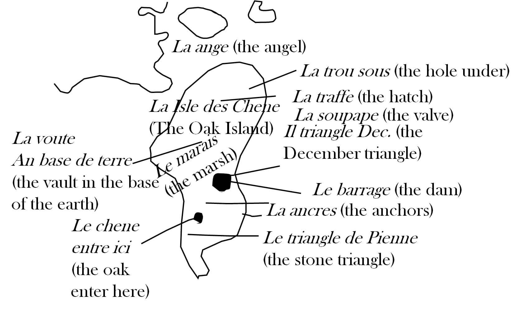 Knights Templar Treasure Map