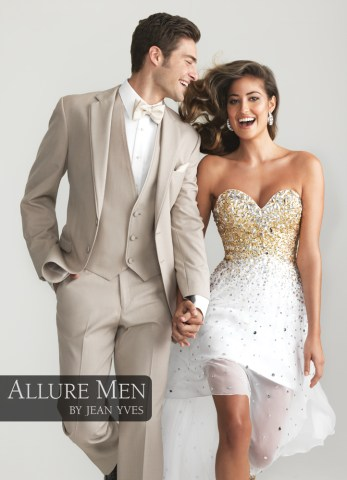The Colors of Prom   Part I  Prom Tuxedo Colors Tan  Allure Men  Tuxedo by Jean Yves