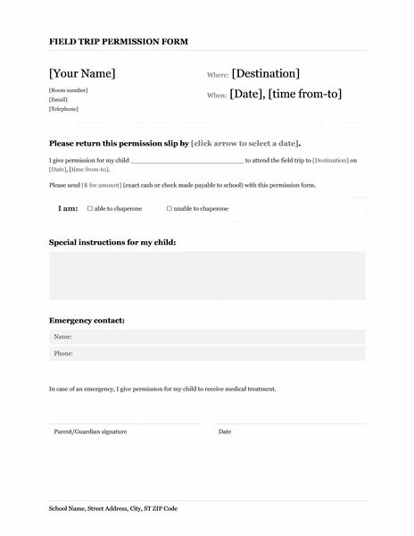 letter template permission hunt