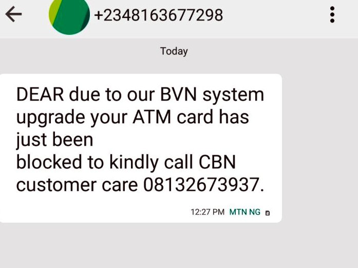 Please Report Bvn Scam Numbers And Let's Educate And Warn ...