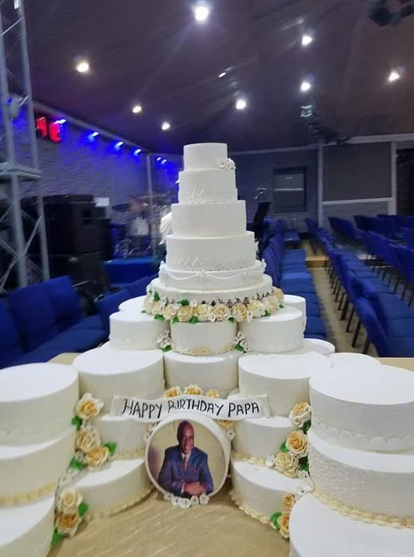 Pastor David Ibiyeomie S 55 Cakes In One 55th Birthday