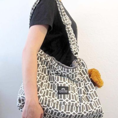 Original Gray with White Pattern Carrier Bag