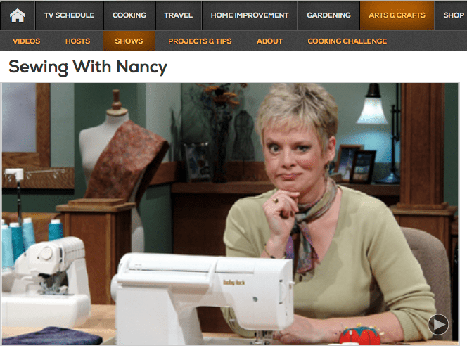 Now Five Ways to Watch Sewing With Nancy with host Nancy ...
