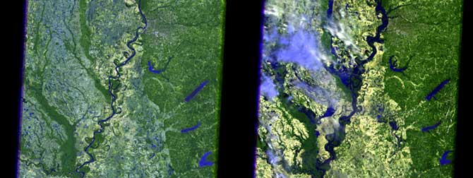 Nasa Satellite Images Display Extreme Mississippi River Flooding From Space