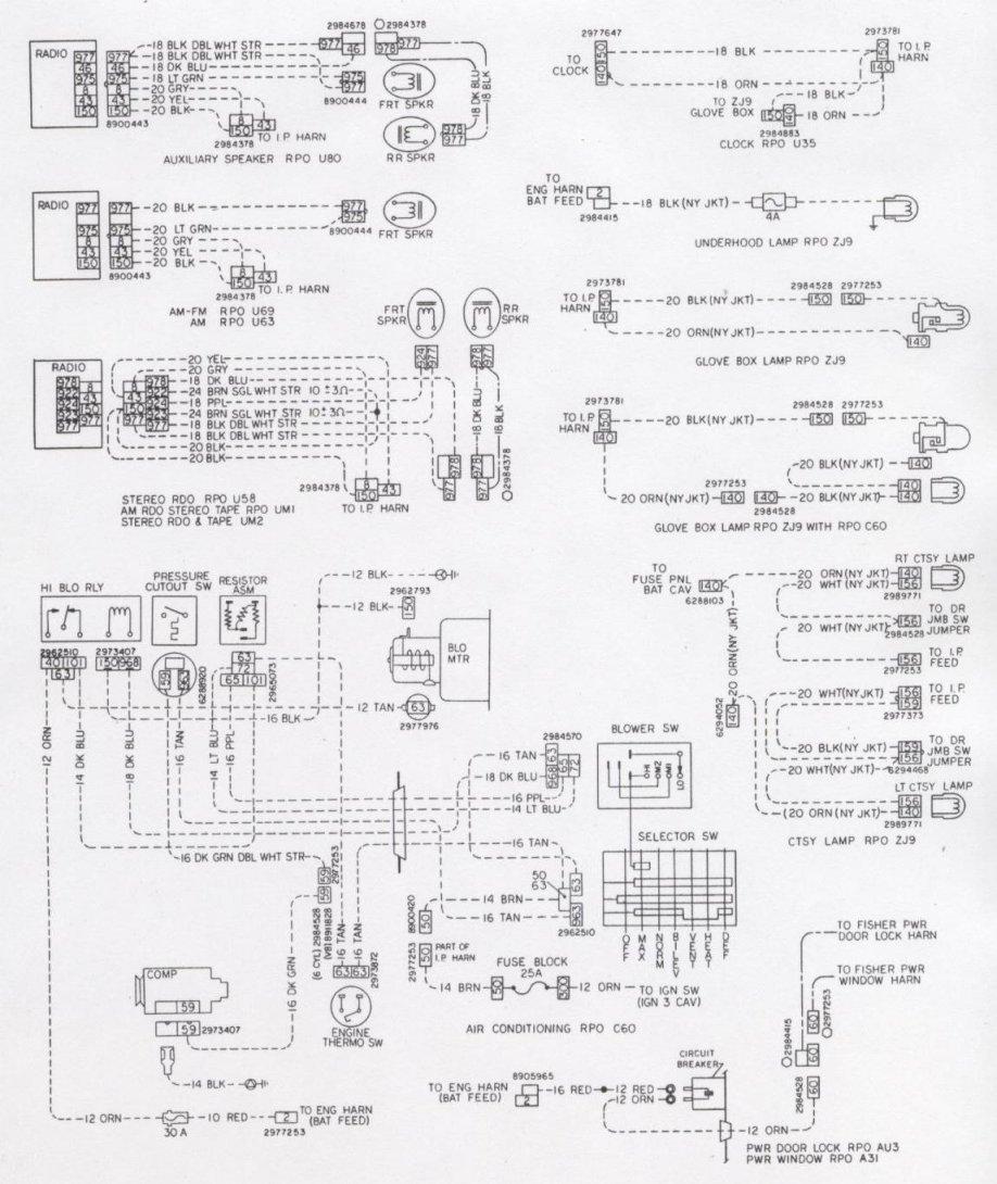 1967 Chevelle Wiring Rear Diagram